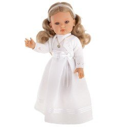 Antonio Juan doll 45 cm - Bella blonde communion with white dress, stitched jacket and certificate