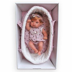 Antonio Juan doll 21 cm - Mufly with purple carrycot