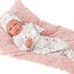 Antonio Juan doll 40 cm - Born with pink cushion
