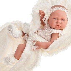 Antonio Juan doll 42 cm - Newborn with beige blanket