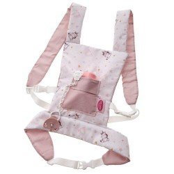 Antonio Juan doll Complements 40-52 cm - Baby carrier with unicorns