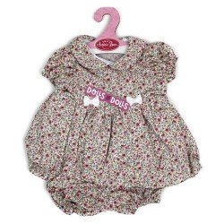 Antonio Juan doll Outfit 40-42 cm - Dress with fuchsia flowers and matching knickers