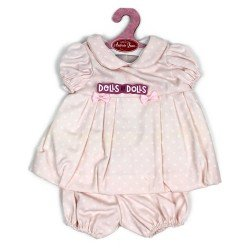 Antonio Juan doll Outfit 40-42 cm - Pink dress with dots and matching knickers