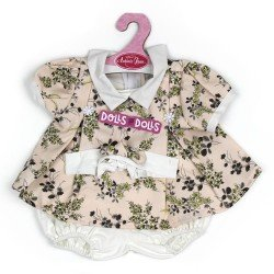 Antonio Juan doll Outfit 40-42 cm - Pale pink printed dress with headband