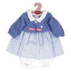 Antonio Juan doll Outfit 40-42 cm - Blue dress with dots and jacket