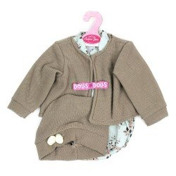 Antonio Juan doll Outfit 40-42 cm - Flower romper with jacket and hat