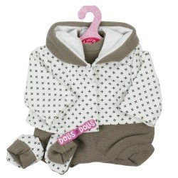 Antonio Juan doll Outfit 40-42 cm - Brown outfit with printed jacket with booties