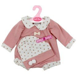 Antonio Juan doll Outfit 40-42 cm - Pink polka dot romper with Beanie