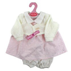 Antonio Juan doll Outfit 40-42 cm - Pink polka dot dress with jacket