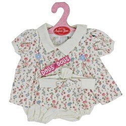 Antonio Juan doll Outfit 40-42 cm - Pink floral printed dress with headband
