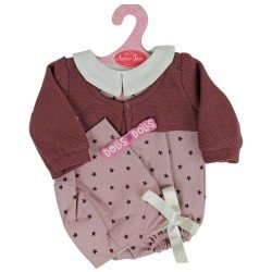 Antonio Juan doll Outfit 40-42 cm - Burgundy star romper with hood and jacket