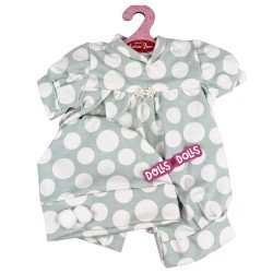 Antonio Juan doll Outfit 40-42 cm - Grey romper with dots and hat