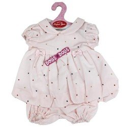 Antonio Juan doll Outfit 40-42 cm - Pink dress with stars and matching briefs