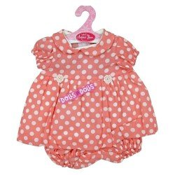 Antonio Juan doll Outfit 40-42 cm - Pink polka dot dress with matching briefs