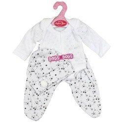 Antonio Juan doll 33-34 cm Outfit - White and gray stars pyjamas with hat