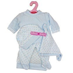 Antonio Juan doll 33-34 cm Outfit - Blue polka dot pyjamas with hat