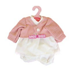 Antonio Juan doll Outfit 33-34 cm - Pink dots printed outfit with pink jacket