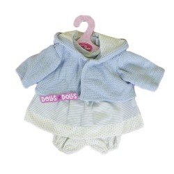 Antonio Juan doll Outfit 33-34 cm - Blue dots printed outfit with blue jacket