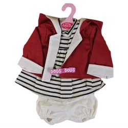 Antonio Juan doll Outfit 40-42 cm - Stripped outfit with red jacket