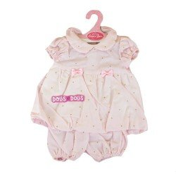 Antonio Juan doll Outfit 40-42 cm - Pink outfit with golden dots