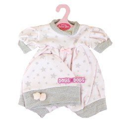 Antonio Juan doll Outfit 40-42 cm - Pink outfit with grey stars with hat