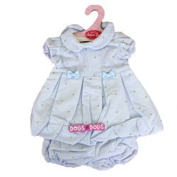 Antonio Juan doll Outfit 40-42 cm - Blue outfit with gold dots printed
