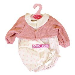 Antonio Juan doll Outfit 40-42 cm - Stars printed outfit with pink jacket and hat