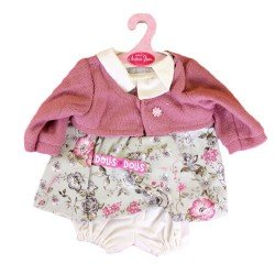 Antonio Juan doll Outfit 40-42 cm - Flowers printed outfit with jacket