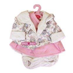 Antonio Juan doll Outfit 40-42 cm - Pink outfit with flower printed jacket