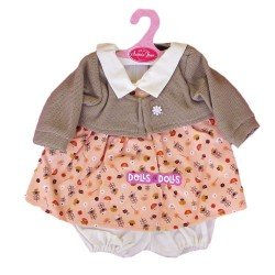Antonio Juan doll Outfit 40-42 cm - Printed outfit with brown jacket