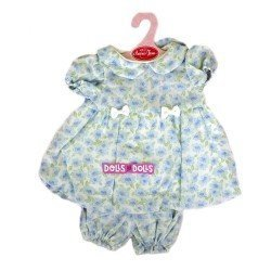 Antonio Juan doll Outfit 40-42 cm - Blue flowers printed outfit