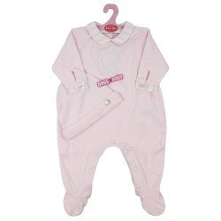 "Antonio Juan doll Outfit 40 - 42 cm - Sweet Reborn Collection - Pink pyjamas with hat ""Tartine et chocolat"""