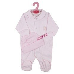 Antonio Juan doll Outfit 40 - 42 cm - Sweet Reborn Collection - Pink pyjamas with hat