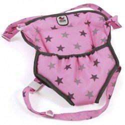 Portamuñecas - Bayer Chic 2000 - Estrellas negro y rosa