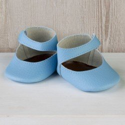 Así doll Complements 36 to 40 cm - Light blue bootie shoes for Guille, Koke and Nelly doll