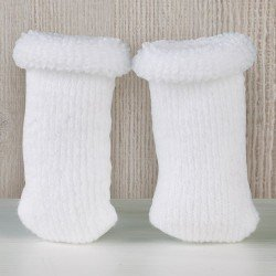 Así doll Complements 36 to 46 - White wool curl booties