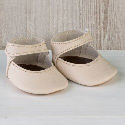 Así doll Complements 43 to 46 cm - Beige bootie shoes for María, Pablo, Leo, Real Reborn and Limited Series dolls