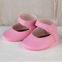 Así doll Complements 43 to 46 cm - Pink bootie shoes for María, Pablo, Leo, Real Reborn and Limited Series dolls