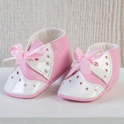 Así doll Complements 43 to 46 cm - Pink baby boots with bow for María, Pablo, Leo and Limited Series doll