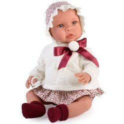 Así doll 46 cm - Leo with brown flowers bloomers and beige sweater