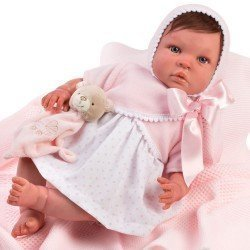 Así doll 46 cm - Patricia Real Reborn doll with hair