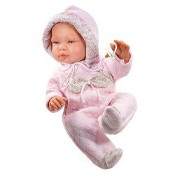 Así doll 43 cm - María with pink snowsuit
