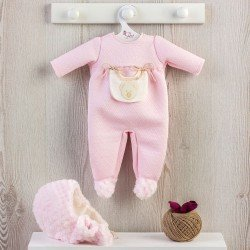 Así doll Outfit 46 cm - Pink baby romper with beige pocket for Leo