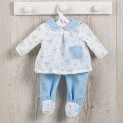 Así doll Outfit 43 cm - Bears and moons printed light-blue pyjamas for Pablo