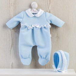 Así doll Outfit 36 cm - Light-blue romper with white lace for Koke