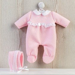 Así doll Outfit 36 cm - Pink romper with white lace for Koke