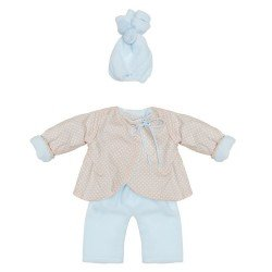 Así doll Outfit 43 cm - Blue-beige reversible jacket set