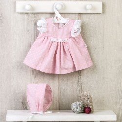 Así doll Outfit 43 cm - Pink dress with white dots for María doll