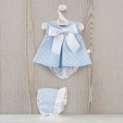 Así doll Outfit 46 cm - Light blue dress with white stars for Leo doll