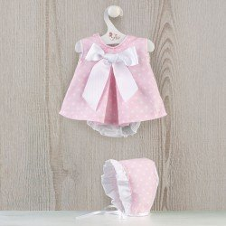 Así doll Outfit 46 cm - Pink dress with white stars for Leo doll